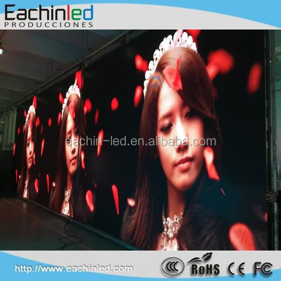 Rental use pitch 6mm cree led with rental indoor Led video wall
