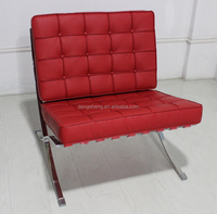leather barcelona chair lounge chair