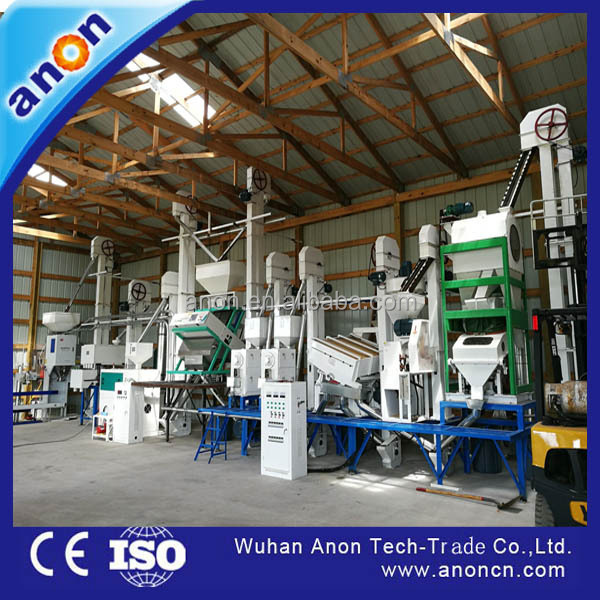 Anon rice mill plant 30-40t/d automatic complete rice miller lower price of rice mill