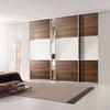 Eco-Friendly Panel Storage Triple Sliding Doors Closet Wardrobe With Folding Ironing Board Organizers