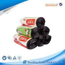 Plastic black colored garbage roll bag used in home