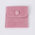 Wholesale/ Custom suede pouch jewellery button snap