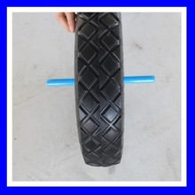 High Quality 16 Inch Small Solid Flat free PU Foam Filled Wheelbarrow Wheel And Tyre 4.80/4.00-8