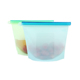 2-Pcs 1000ml 1500ml Reusable Ziplock Vacuum Silicone Food Storage Bag