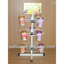 counter promotion custom metal wire ring circle display rack