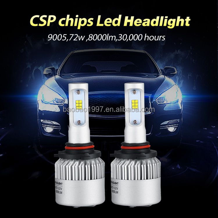 China supplier manufacture best sell golden yellow car led headlight