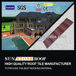 Shingle clay roof tile stone coated steel roofing tile