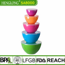 custom plastic bowl mixing bowl with lid pp plastic salad bowl with lid