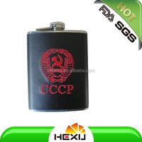 5oz stainless steel quality chivas whisky hip flasks with leather covered