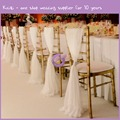 BS00352 Cream wholesale cheap wedding decor chiffon chair sash