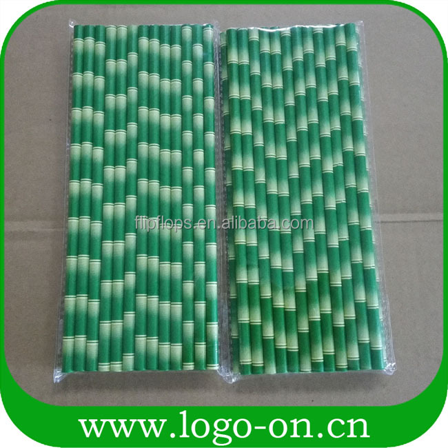 wholesale party supplies bamboo straws - paper stripe straws paper straws