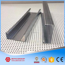 Hot sell dry wall partition metal stud metal track for partition sizes