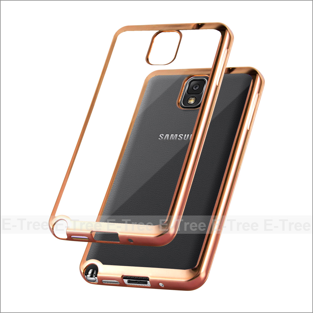 Chrome TPU Soft Phone Case For Samsung Galaxy Note3