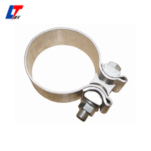 5by11 stainless muffler Universal muffler clamps ,chamber universal car muffler clamps , flowmaster/Universal Exhaust clamps