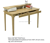 Wooden natural color office desk/office table for office set