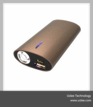 2014 hot selling metal mobile charger portable power bank 5200mah
