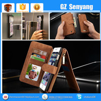 2016 New Best Selling Real Leather Multifunction Wallet Case For Iphone 6 6s