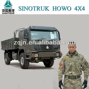 HOWO Right Steering Diesel 4x4 Military Truck
