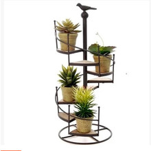 High quality spiral staircase design wrought iron flower pot stand