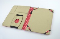 2015 New Arrival Flip polka dots pattern Smart Tablet Leather Case Cover For Ipad