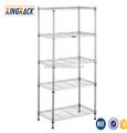 5-tier metal steel Chrome wire shelf store rack factory