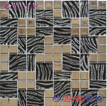 2017 New Type Laminated Mixed Metal Mosaic Tiles for Hotel Projects/Bar Decoration/Wall Tiles