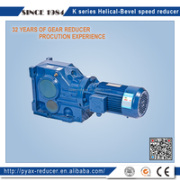 China gold supplier K series 1 100 ratio helical bevel speed reducer