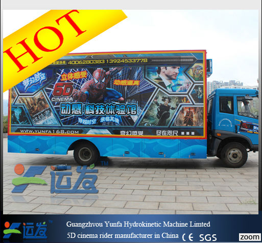 competitive quality5D theater manufacturer in 2014/Hot sale 5d cinema/5d Theater Rider in a Trailer New!