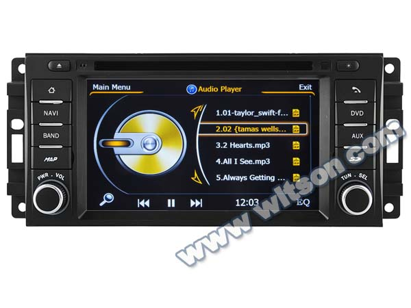 WITSON JEEP LIBERTY/CARAVAN 2002-2007/JEEP DURANGO 2002-2003 AUTO CAR DVD GPS WITH A8 CHIPSET DUAL CORE 1080P V-20 DISC WIFI