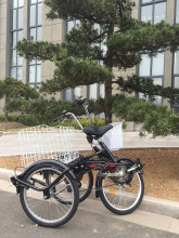 Hot sale V brake shopping tricycle/tricycle cargo bike/3 wheel bike with folding steel frame GW7005