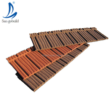 Factory price high quality color stone coated steel roofing materials makuti grained tiles villa roof design