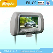 7 inch taxi/car lcd advertising headrest monitor