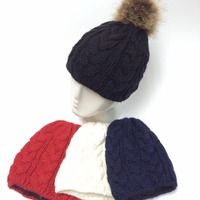 Arcylic Multicoloured Knitted Women Hat With