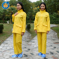 High Visibility Safety Factory Price Wholesale Cheap PVC Raincoat