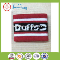 100%cotton jacquard satin wristband and sweatband