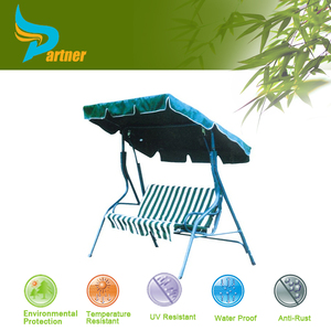 Patio swing with canopy hanging outdoor double chairs swing chair