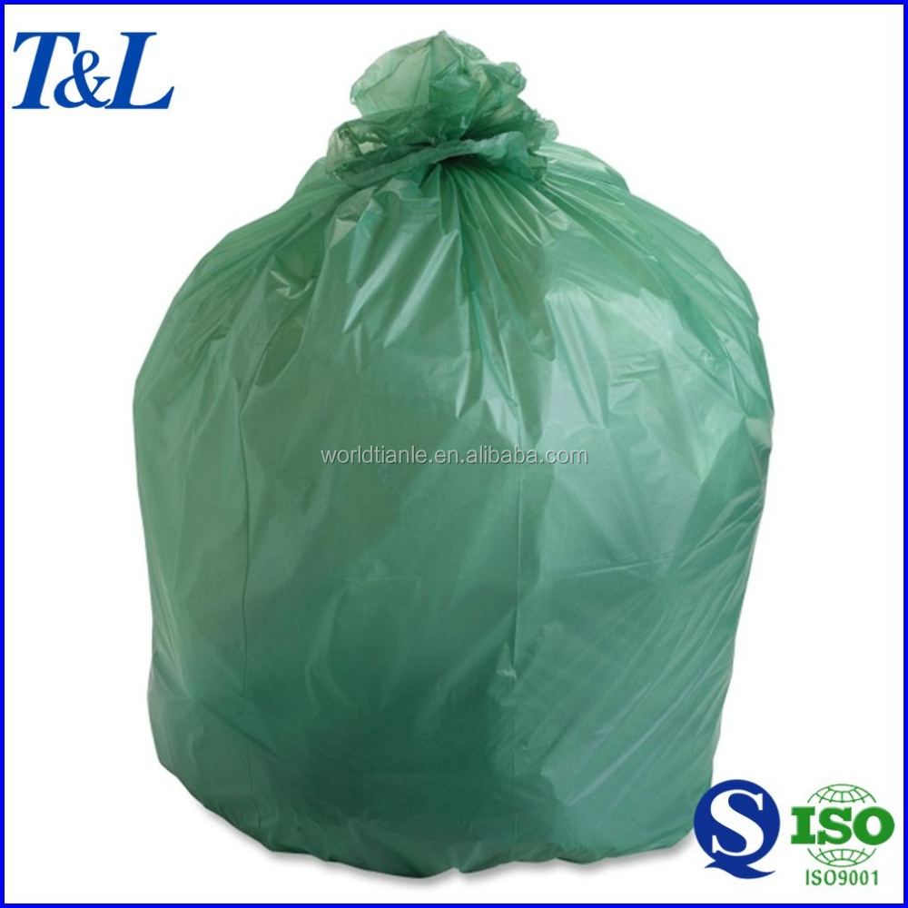 Eco-friendly waste packaging oxo biodegradable plastic garbage bag