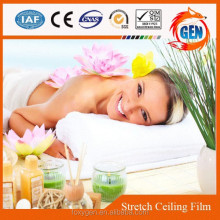 Spa flexible false stretch ceiling tiles for interior decoration with 15-year warranty for swimming pools