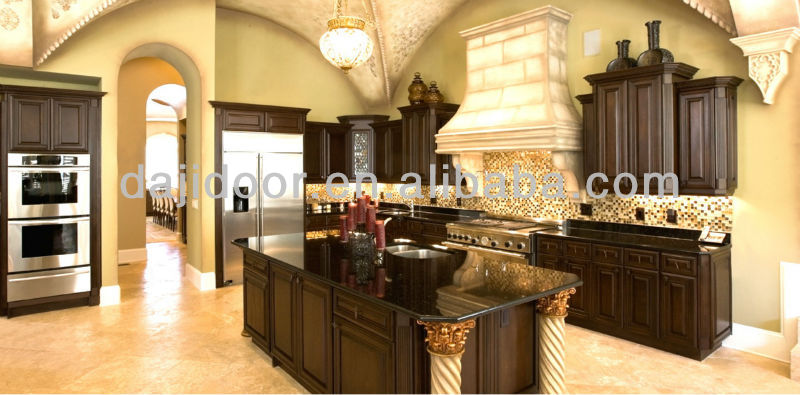 Black Lacquer Luxury Furniture For Kitchen DJ-K154