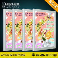 Edgelight Top selling product aluminum frame indoor poster light box for window LED display advertising