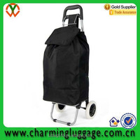 waterproof portable folding shopping trolley bag with 2 wheels/trolley shopping bag