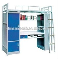 china manufacturer students steel bunk bed with drawers