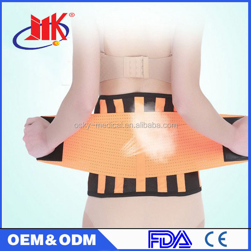 2016 Hot sale health care tourmaline magnet theraphy back support belt