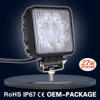 12V 27W square led lights for car
