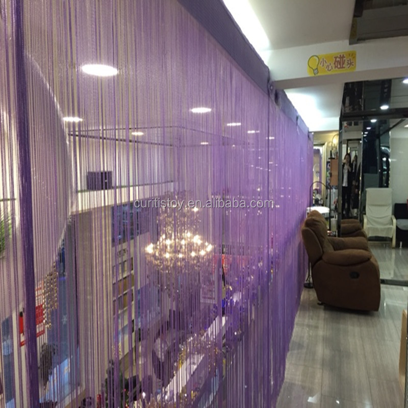 violet polyester material door curtain models200x100cm decorative valances flat applicable window sliding hanging door curtain