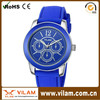 fashionable quartz stainless steel back watch Japan movement Custom silicon watch