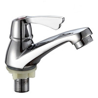 Stainless steel durable bathroom hot cold dual use brass water faucet in Guangzhou