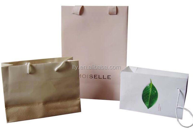 Different Colors Cheap Brown Gift Paper Bag with Die Cut Handle