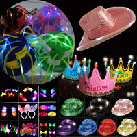 MH-1020 Mardi Gras LED flashing funny Carnival Party hat