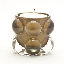 Cute fashion highball unique design brown glass candle holder tea light for use